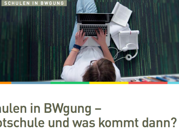 "Event ""Schulen in BWgung – Pilotschule und was kommt dann?"""
