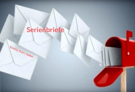 Tutorial über Serienbriefe