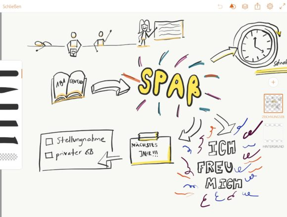 Mit Adobe DrawVisualisierungen im Fach Deutsch erstellen