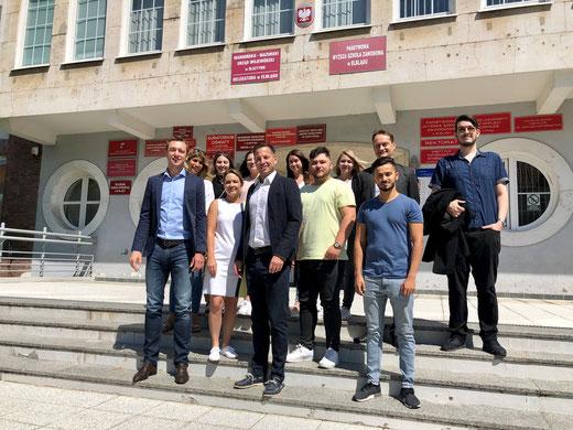Managementassistenten im Einzelhandel an der Hochschule PWSZ Elblag.